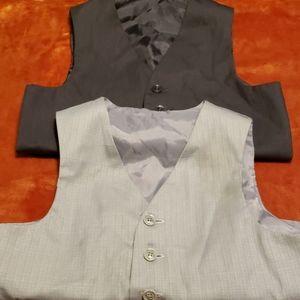 2 boy vests dark gray and light gray
